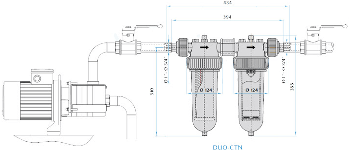 Filtry narurowe - schemat
