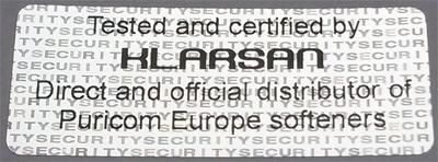 Certyfikat firmy Klarsan
