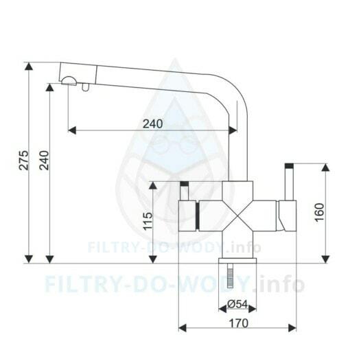 Wymiary baterii Aquafilter FXFCH13-4-M