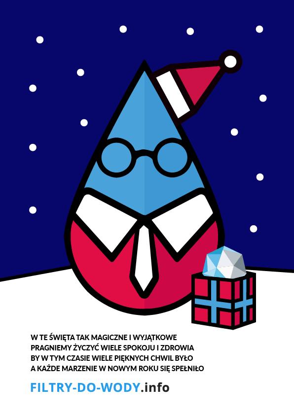 Filtry do Wody Kartka Świąteczna