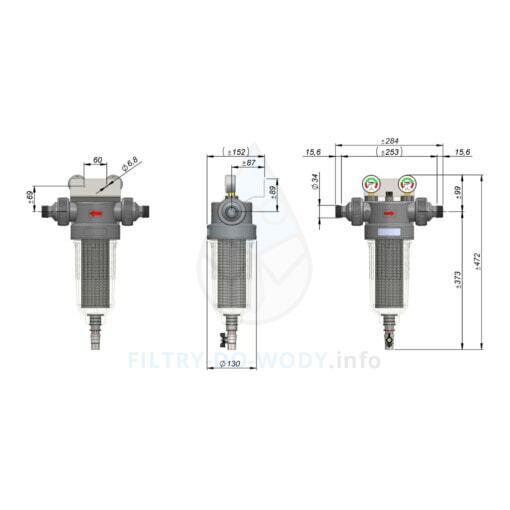 Wymiary filtra Cintropur NW 280