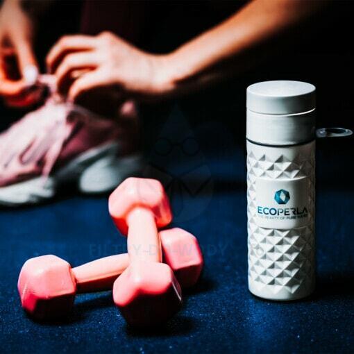 Butelka z trzciny cukrowej Ecoperla Ecobott na siłowni